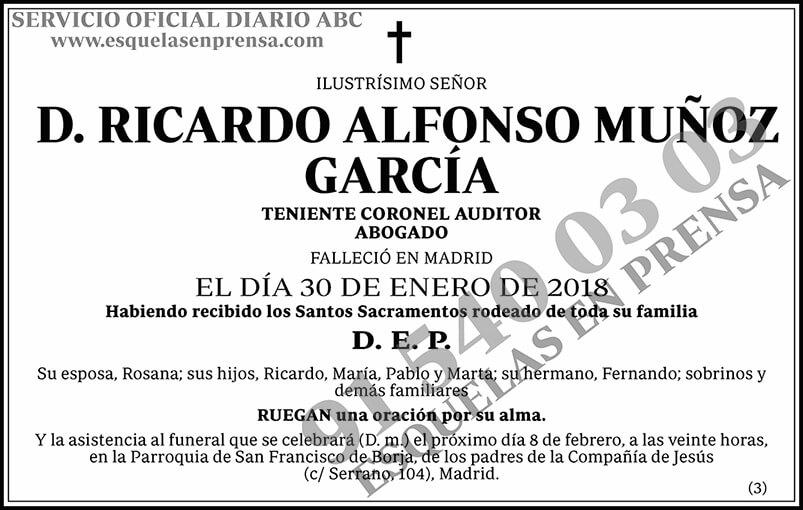 Ricardo Alfonso Muñoz García